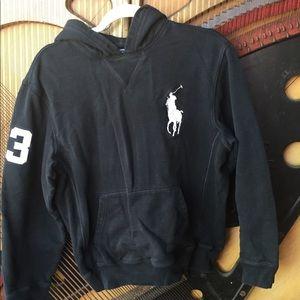 Black Ralph Lauren Polo Pullover Hoodie